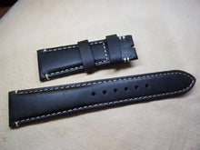 Load image into Gallery viewer, Tudor rolex watch strap 22mm lug genuine cow leather handmade strap for rolex gents mens watches buckle end 18mm  FAST SHIPPING on sale