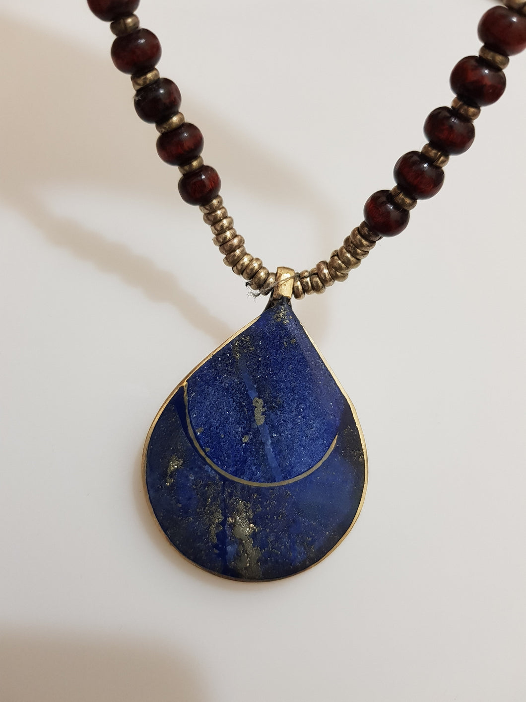 old antique vintage handmade lapis lazuli silver pendant FAST SHIPPING on  on sale on sale