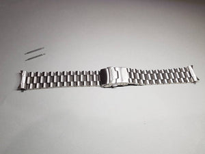 20mm seiko PRESIDENT stainless steel bracelet mens gents watch strap double lock clasp with curve end lugs( FAST SHIPPING ) on sale