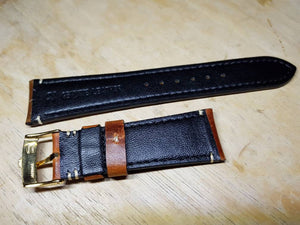 20mm vintage genuine leather strap rolex  Strap for Rolex Daytona GMT Submariner Yacht Master Band 20mm on sale