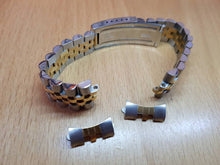 Load image into Gallery viewer, Rolex Date 1500 , 1550, 15203, 14000,14233 Oyster Perpetual and other Rolex watches with 19mm curve lugs twotone bracelet strap band on sale