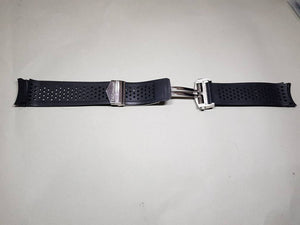 Tag Heuer Carrera Tag heuer 22mm Rubber Black Watch Band with deployment push buttons stainless steel  clasp buckle on  on sale on sale