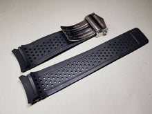 Load image into Gallery viewer, Tag heuer 22mm Rubber Black Watch Band Strap For Tag Heuer Carrera Watch Replace Parts on sale