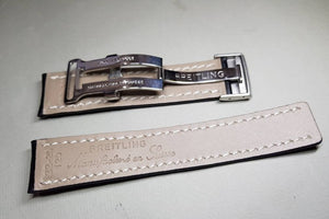 Breitling watch 22mm Nevitimer Chronomat Watch stitched Leather strap bracelet band new on sale