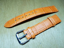 Load image into Gallery viewer, 18mm orange genuine leather strap for 18mm omega watches  watch  FAST SHIPPING on sale