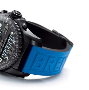 22mm Breitling Blue Rubber Strap Band Btacelet With Clasp on sale on  on sale