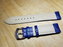 Load image into Gallery viewer, 20mm blue genuine leather strap for 20mm omega seamaster professional planet ocean watches omega watch  FAST SHIPPING on sale