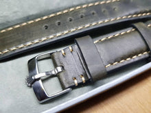 Load image into Gallery viewer, 20mm Rolex vintage genuine leather hand stitched strap for 20mm rolex watch stainless steel buckle on sale ( FAST SHIPPING ) on  on sale