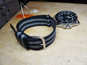 22mm Nylon slide through strap for rolex omega seiko and diver watches strap bracelet  FAST SHIPPING on sale