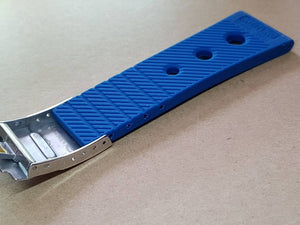 Breitling watch 24mm Breitling Nevitimer super avenger watches strap band bracelet blue with deployment breitling clasp ( FAST SHIPPING )