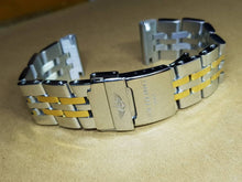 Load image into Gallery viewer, 24mm 22mm and 20mm Sizes Breitling twotone Chronomat Nevitimer super avenger watches Solid stainless steel bracelet strap  ( FAST SHIPPING )