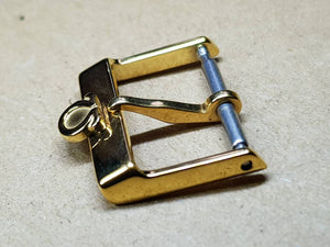 16mm omega buckle gold plated for omega watch strap deployment buckle clasp new condition ( FAST SHIPPING ) on sale