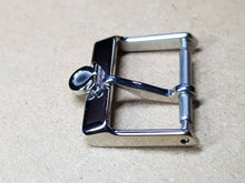 Load image into Gallery viewer, 16mm omega silver stainless steel  for omega watch strap deployment buckle clasp new condition ( FAST SHIPPING ) on sale