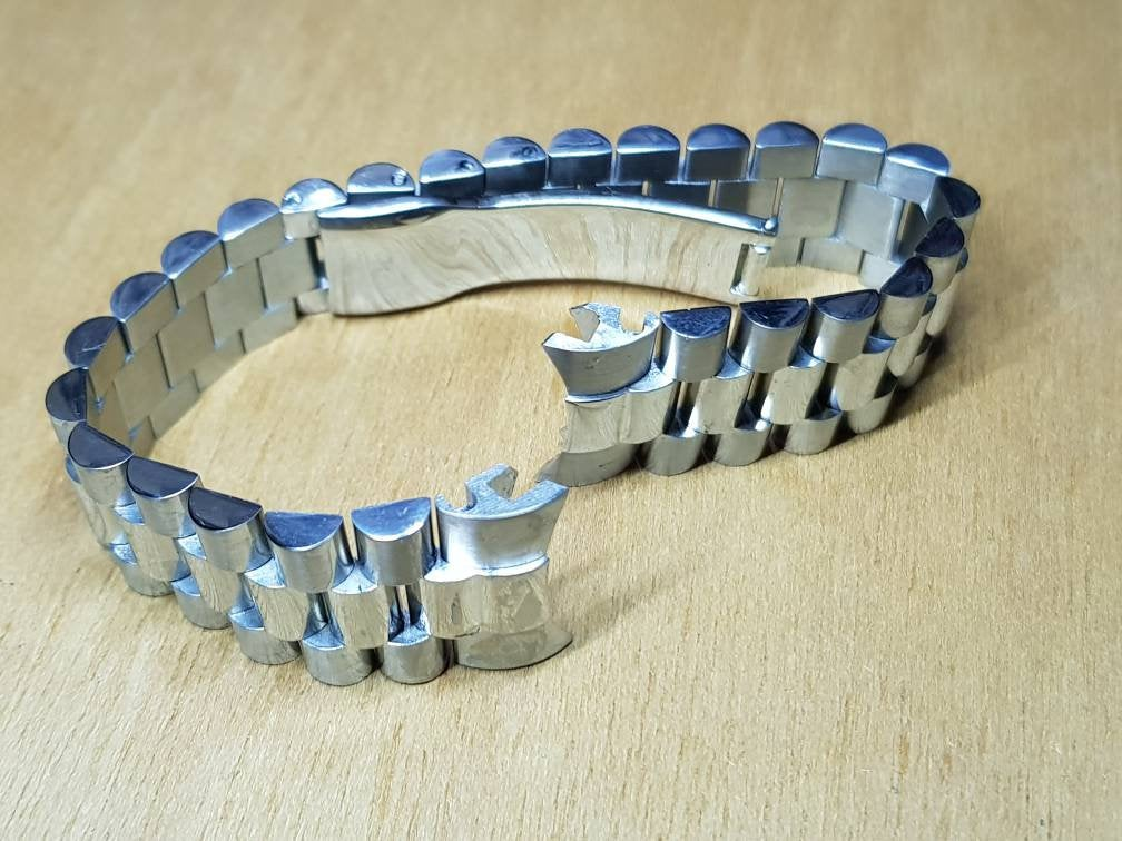 20mm rolex High Quality 316L Folded Link Replacement President Bracelet  Made For Rolex watch FAST SHIPPING on sale
