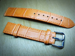 18mm orange genuine leather strap for 18mm omega watches  watch  FAST SHIPPING on sale