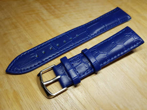 20mm blue genuine leather strap for 20mm omega seamaster professional planet ocean watches omega watch  FAST SHIPPING on sale