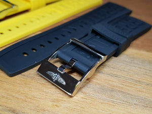 Breitling watch Breitling Rubber strap band bracelet with stainless steel clasp buckle  ( FAST SHIPPING ) on sale