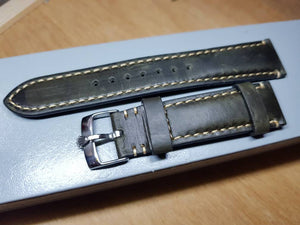 20mm Rolex vintage genuine leather hand stitched strap for 20mm rolex watch stainless steel buckle on sale ( FAST SHIPPING ) on  on sale