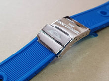 Load image into Gallery viewer, Breitling watch 24mm Breitling Nevitimer super avenger watches strap band bracelet blue with deployment breitling clasp ( FAST SHIPPING )
