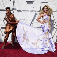 Rupaul's Drag Race Contestant, Shangela, and actress Jenifer Lewis at the 2019 Oscars