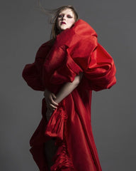Hana Holquist red cape
