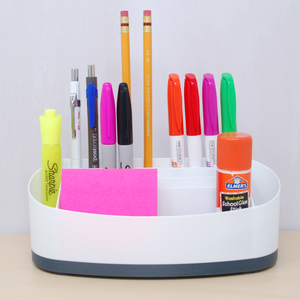Desk organizer white with grey accent colour