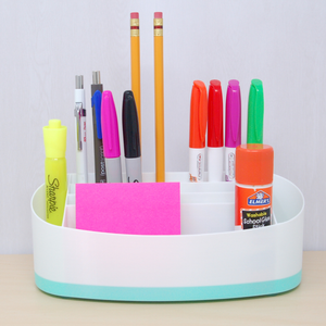Desk organizer mint accent colour