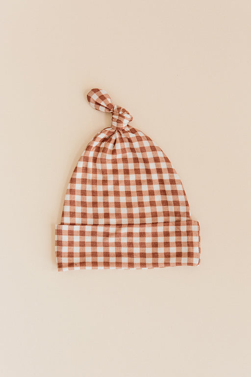 KNOTTED HAT - Ginger Check