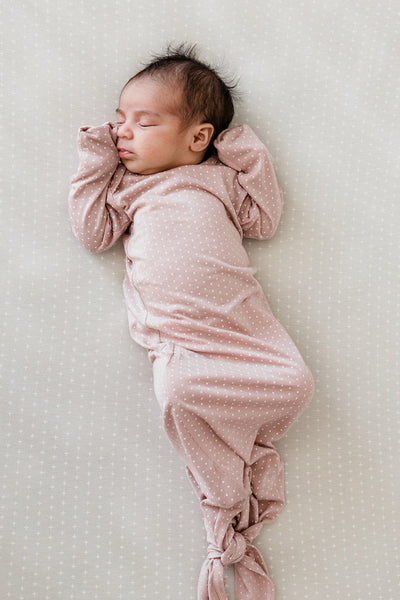 SLEEP GOWN - Blush Swiss Dot