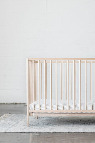 CRIB SHEET - Natural & Grey Stripe