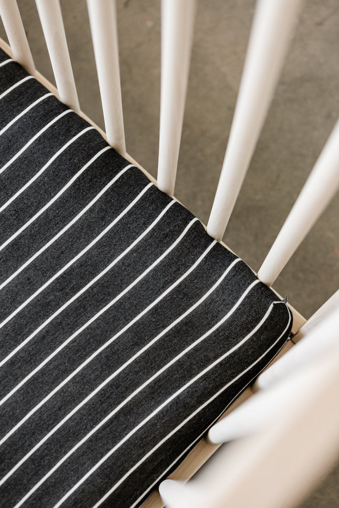 CRIB SHEET - Charcoal Stripe