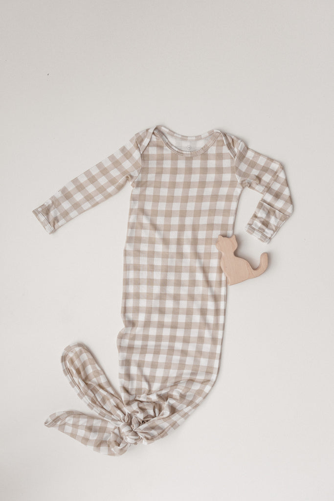 SLEEP GOWN - Creamy Gingham