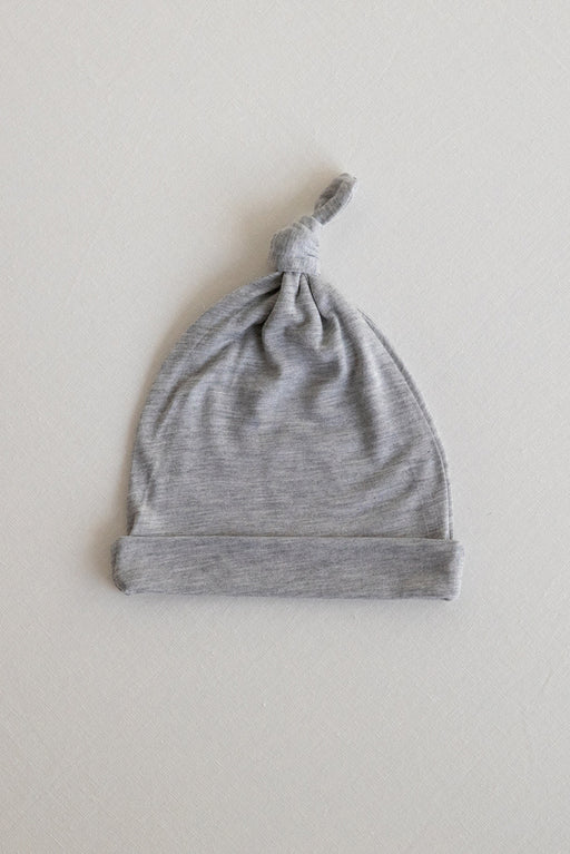 KNOTTED HAT - Heather Grey