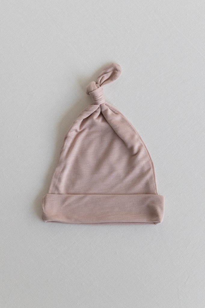 KNOTTED HAT - Dusty Pink