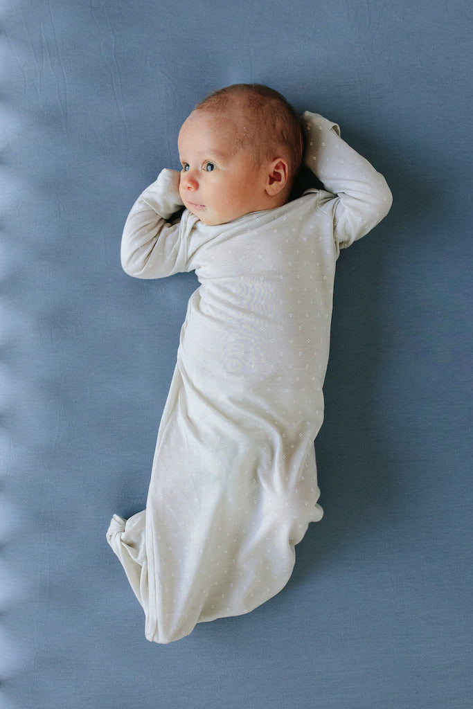 SLEEP GOWN - Oat Dot
