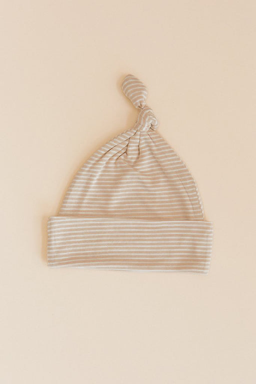 KNOTTED HAT - Neutral Stripe
