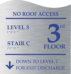 Floor levels sign
