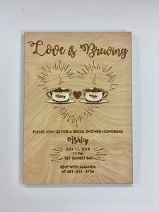 Custom Wooden Invitations