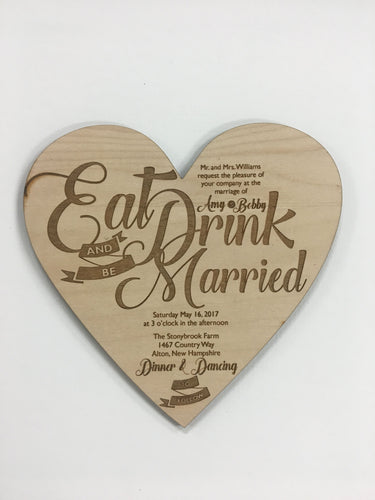 Wedding Invitation - Heart