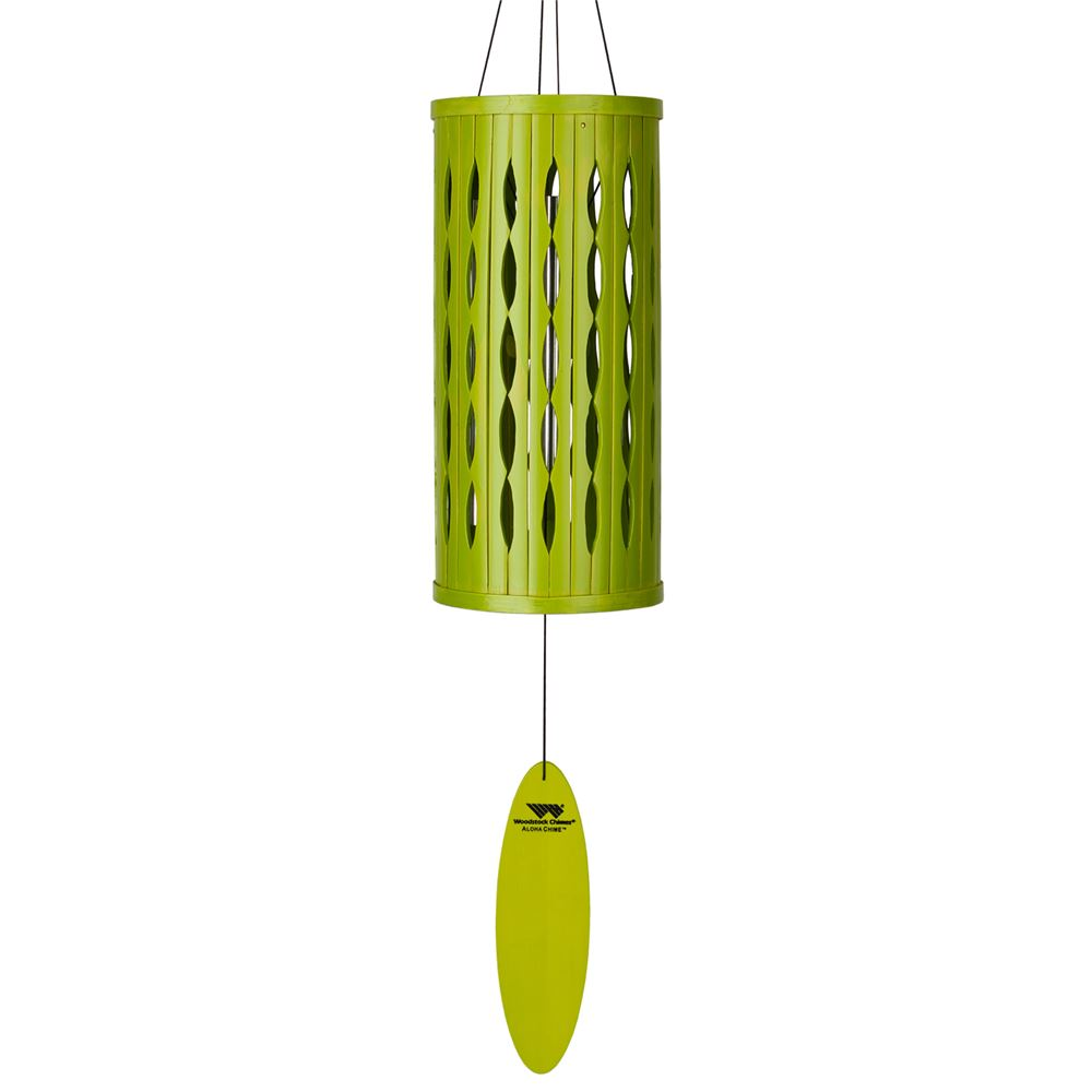 lime green bamboo wind chime