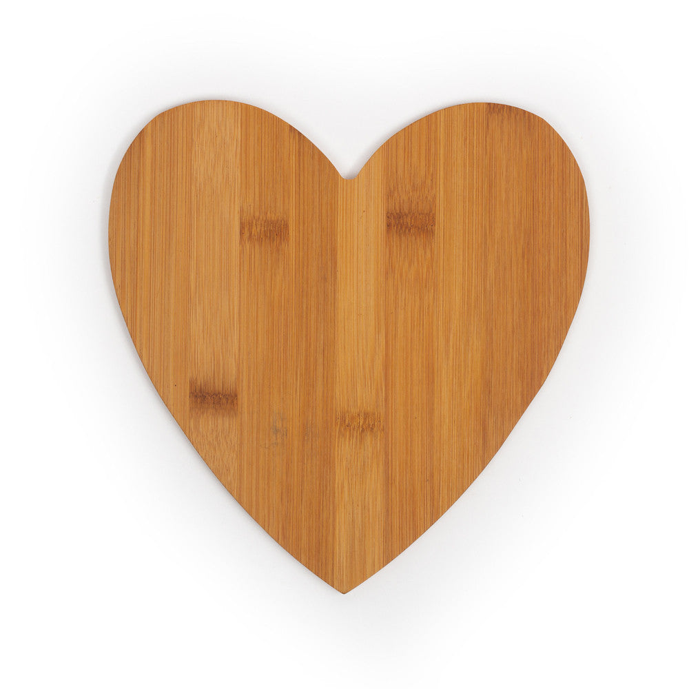 Customizable Heart Shaped Bamboo Cutting Board