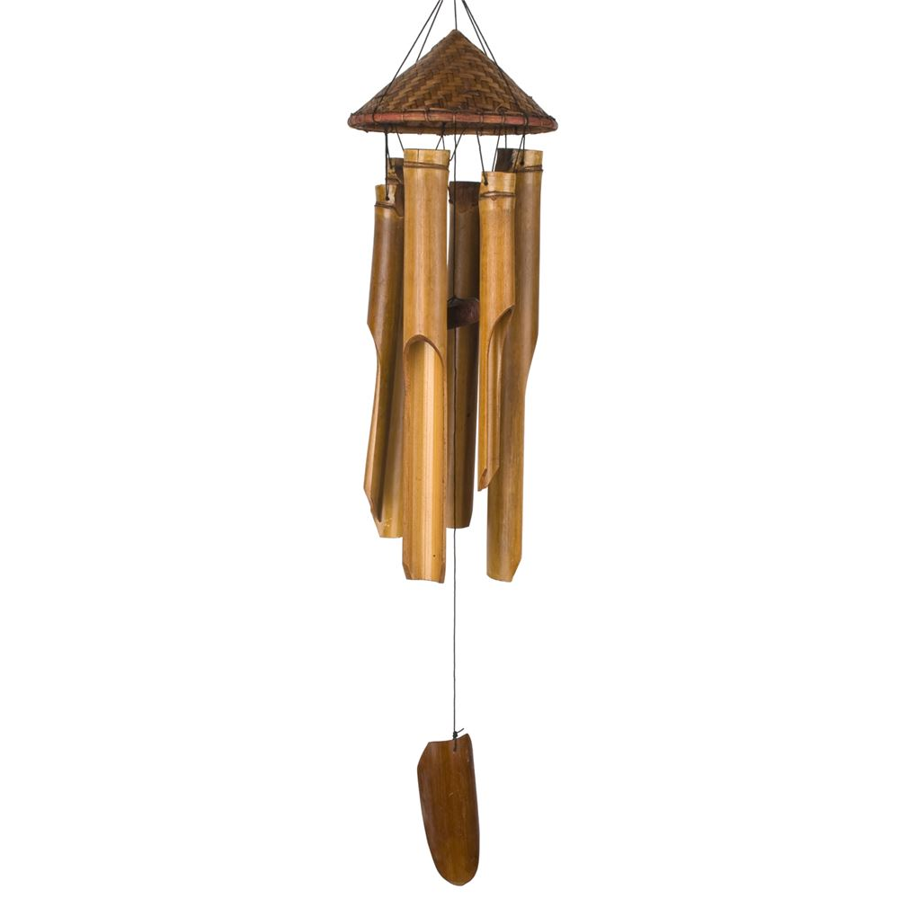 Woven Hat Bamboo Chime
