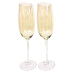 Customizable Champagne Flute Set, Gold