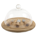 Presentation Cheese Set with Glass Dome