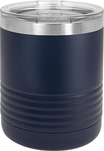Customizable Stainless Steel Vacuum Insulated Tumbler w/Clear Lid