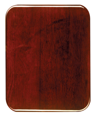 Rosewood Piano Finish Plaque, Round Corners