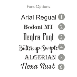 font options for Bamboo Hors D'Oeuvres Plate set