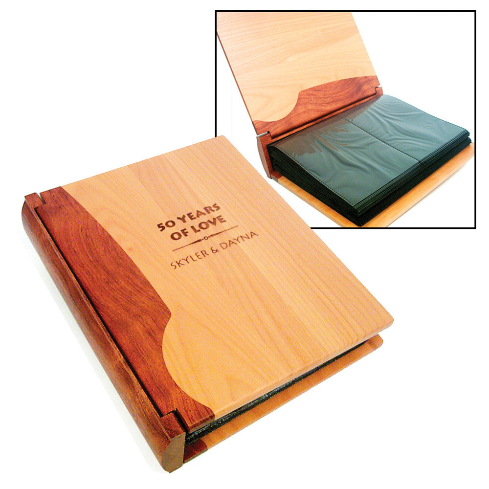 Customizable Two-Toned Wood Photo Album