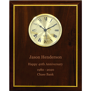 Load image into Gallery viewer, Cherry Finish Clock Plaque