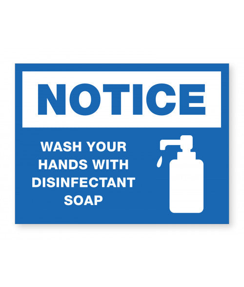 Wash Hands, Disinfectant Ready Made Sign
